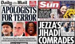 選挙直前の大衆紙:左はDaily Mail、右はThe Sun。両方ともコービン党首と労働党幹部がテロリストと関係があるということで、「労働党にだけは投票しないで」と訴えている。両方の発行部数を合わせると300万部以上にもなる。その新聞がこのような形で反コービンを訴えたけれど、結果的には労働党の獲得票数は前回に比べて300万もの増加を記録している。そうなると、英国における大衆紙の影響力も実際には大したことないということ?