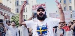 ストックホルムの反移民デモ