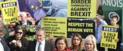 ベルファスト(北アイルランド)のBREXIT反対集会。国境復活に反対している
